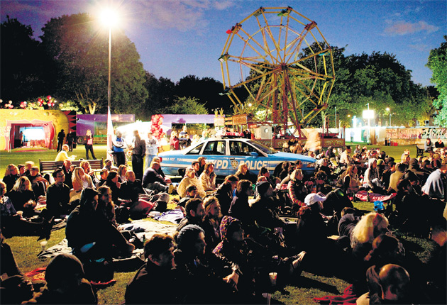 All the fun of the fair: Secret Cinema's showing of The Warriors in London Fields