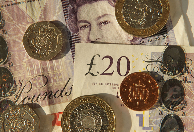 The pound was struggling to hold back another sell-off today