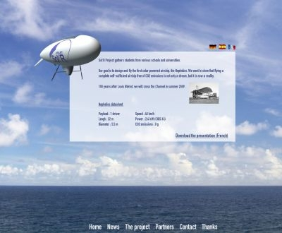 Follow the first solar-powered blimp to cross the English