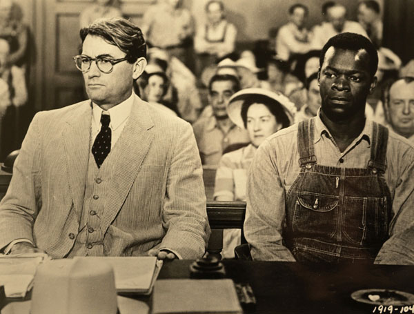 <p>Gregory Peck and Brock Peters in the 1962 film of To Kill a Mockingbird</p>