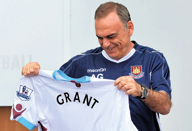 Grant took over at West Ham in the summer