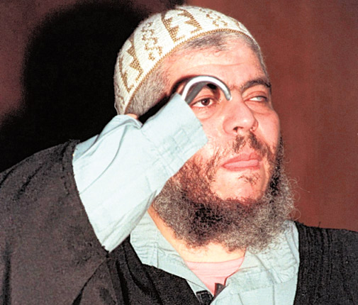 The radical cleric Abu Hamza was reportedly the target of an assassination plot by French spies