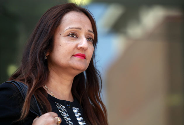 Sharmila Chowdhury, pictured as she left the Watford employment tribunal last Friday. An NHS worker with an unblemished 27-year career, she was sacked after she blew the whistle on senior doctors who were moonlighting at a private hospital while being pai