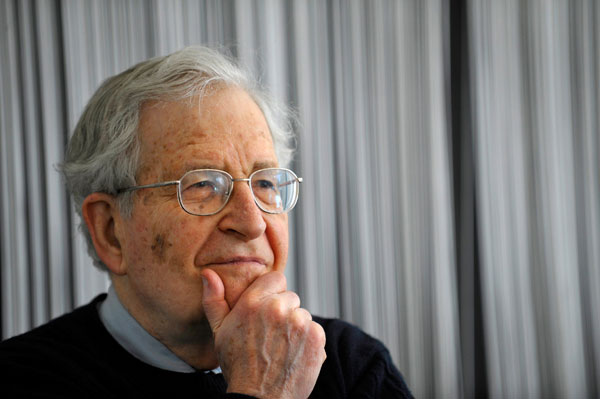Chomsky argues the current manifestation of the anti-fascist movement should not be compared with earlier historical configurations