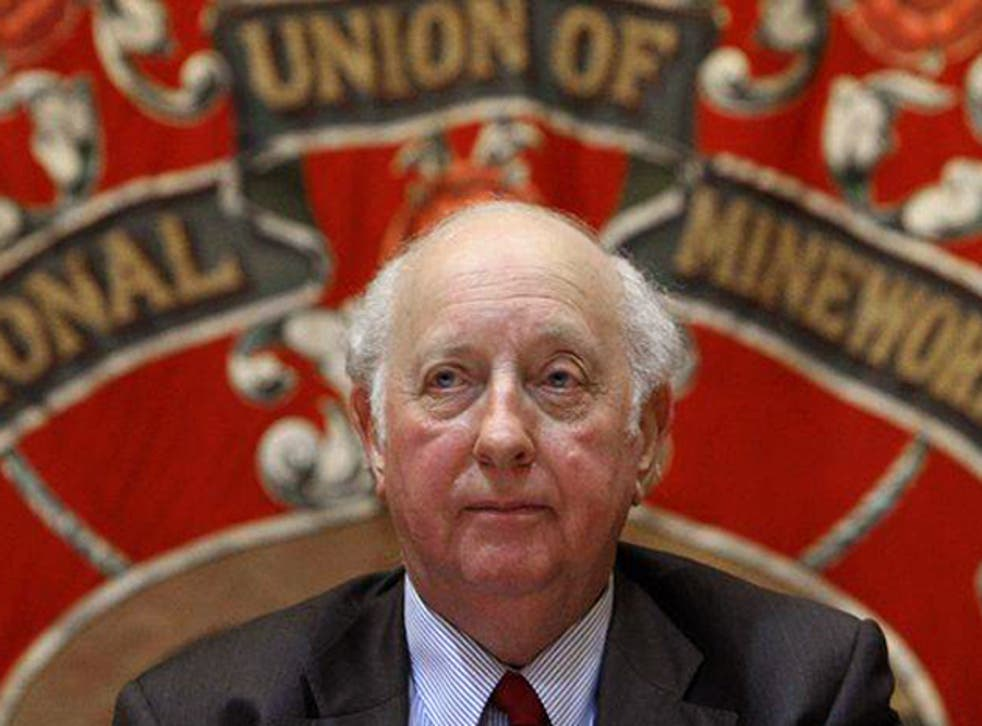 Arthur Scargill at a public meeting in London on the 25th anniversary of the miners' strike in 2009