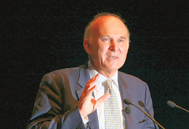 News of the talks follows warnings from both Business Secretary Vince Cable (pictured) and Deputy Prime Minister Nick Clegg about banks paying big bonuses given the state of the economy