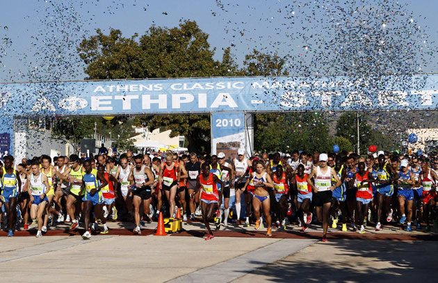 Record number compete in Greek marathon | The Independentindependent_brand_ident_LOGOUntitled