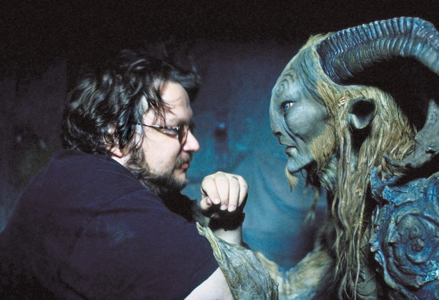 Del Toro with Pan, the title creature of his 2006 classic, Pan's Labyrinth