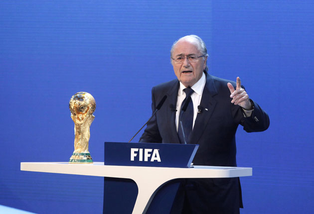 Blatter is due to stay at the Dorchester Hotel