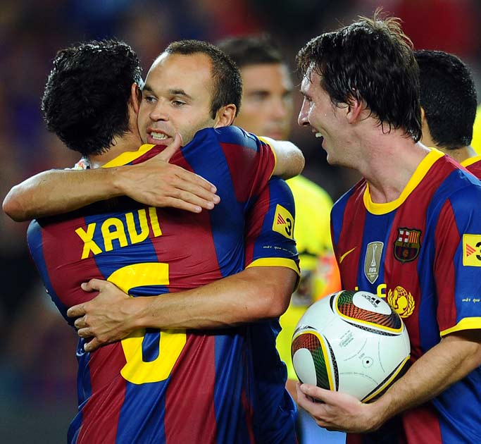 Barcelona Trio Lionel Messi Xavi And Andres Iniesta Shortlisted For Fifa Ballon D Or The Independent
