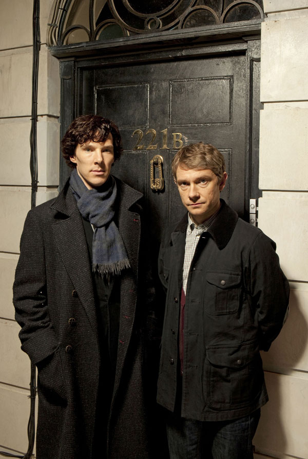 <p>Sherlock Holmes was killed off then resurrected. One of the most popular incarnations was played by Benedict Cumberbatch (left, with Martin Freeman as Watson)</p>