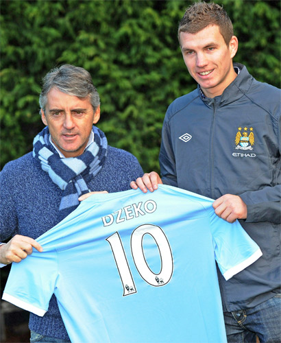 Dzeko is yet to find the back of the net
