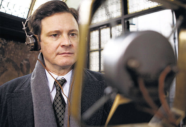 Colin Firth in The King's Speech which made the Brit List in 2008