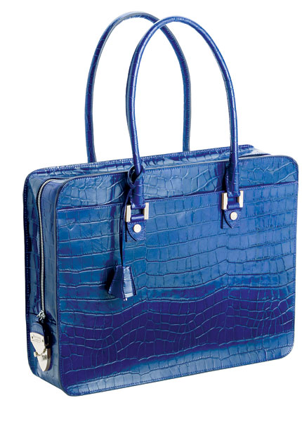 (1). ASPINAL NAVY CROC<br/>The pinnacle of laptop bag design. Aspinal's offering has an arresting, mock-croc calf leather exterior, high-quality nickel fittings and a Swiss zip which comes with its own lifetime warranty.<br/>£425aspinaloflondon.com