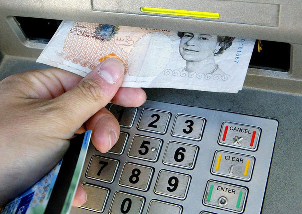 Cash machines were ordered by the gang to withdraw money