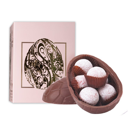 {1} CHARBONNEL ET WALKER MARC DE CHAMPAGNE<br/> Velvet milk chocolate on the outside, Marc de Champagne truffles on the inside – what's not to like about this egg from royal chocolatier Charbonnel et Walker?.<br/> £12, charbonnel.co.uk