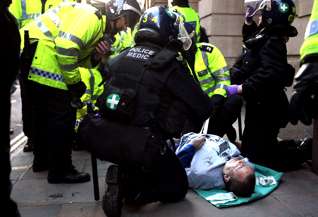 Ian Tomlinson died after he was pushed to the ground at the G20 protests in 2009