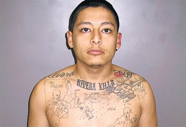 Anthony Garcia informed undercover officers that his tatoo portrayed his first killing