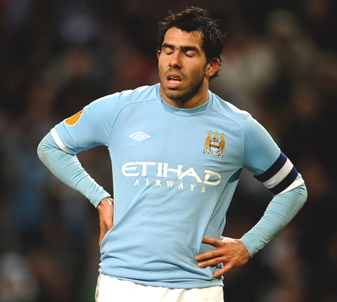 Tevez must play on Tuesday is he is to feature in the FA Cup final says Mancini