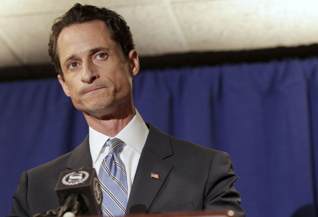 Anthony Weiner has reportedly told friends he is stepping down after an internet sex scandal