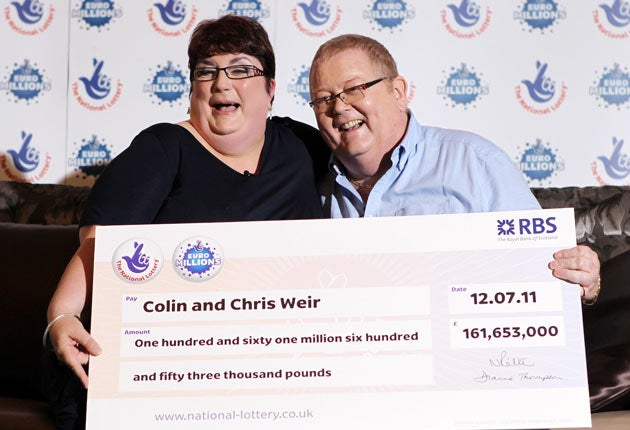 Couple named as 161m euromillions winners the independent - Millionaire designer home lottery ...