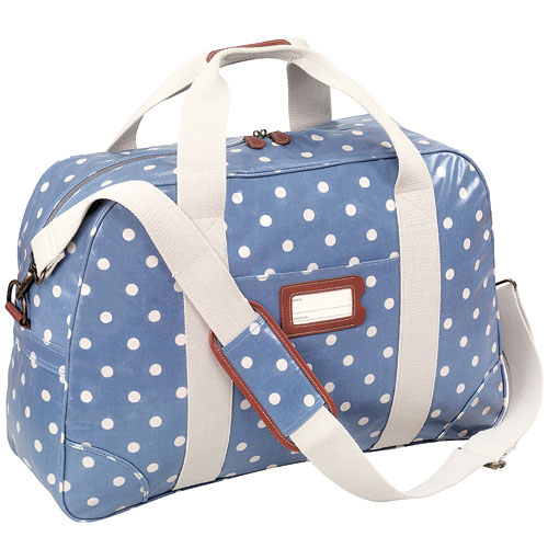 (1) Cath Kidston<br/> The Spot Overnight Bag from Britain's favourite vintage-inspired designer has wipe-clean fabric and sturdy handles, perfect for taking on the plane.<br/> £65, cathkidston.co.uk