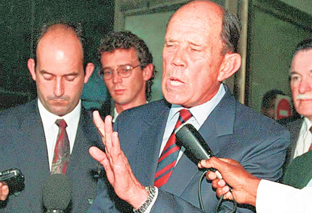 General Magnus Malan Feared And Notorious Politician Who Waged A Dirty War Against The Enemies Of Apartheid