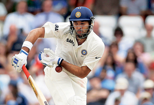 Yuvraj Singh is hit as India struggle to show any stomach for the fight
