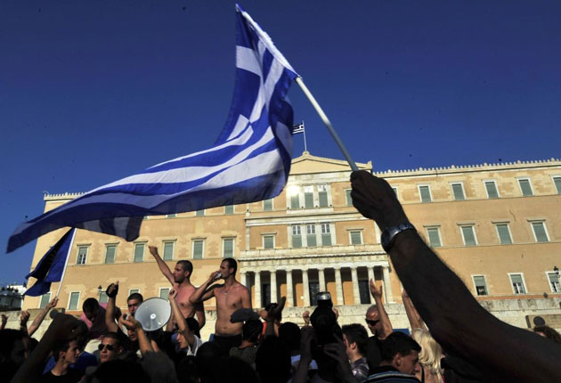 While Greeks protest their countries severe austerity measures in Syntagma Square, young creatives are being forced to abandon their native country