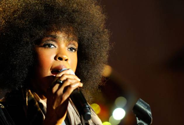 Solo star: Lauryn Hill walked away with a record haul of five Grammys