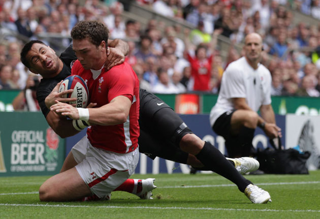 George North scored two tries for Wales