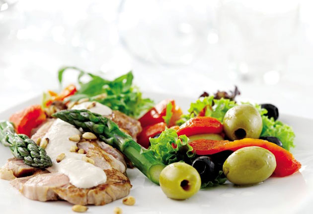 Fit for the jet set: a dish from the new à la carte menu courtesy of KLM