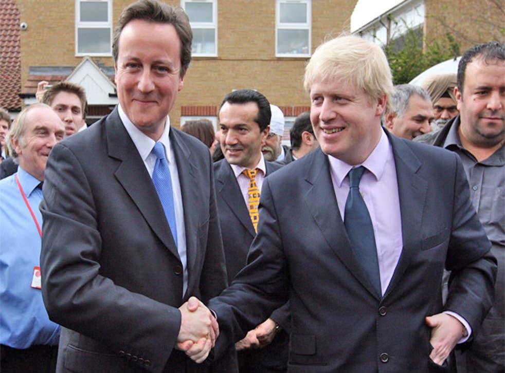 Clash of the Etonians: David Cameron and Boris Johnson