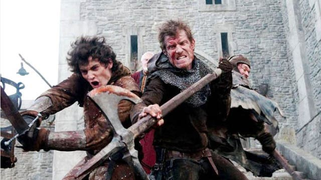 Medieval romp: Aneurin Barnard (left) makes his film debut this year in Ironclad