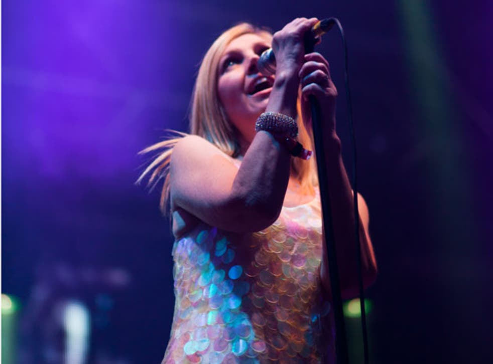 Bright star: Sarah Cracknell and Saint Etienne were fitting headliners to the Apple Cart Festival