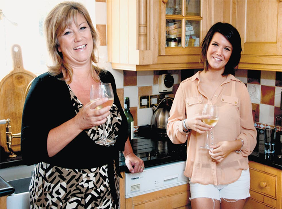 Sue Dearden, with her daughter Emma, says university has been 'the best thing for all of us'