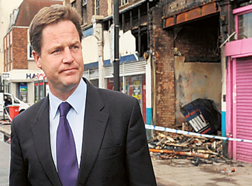 Nick Clegg visits Tottenham last week