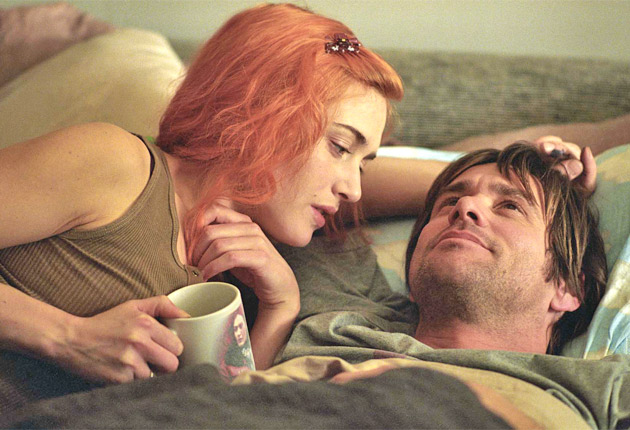 9. In Eternal Sunshine of the Spotless Mind Jim Carrey and Kate Winslett medically erase each other from their memories