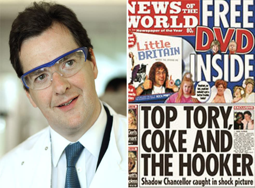 George Osborne and the NOTW splash that he was targeted by