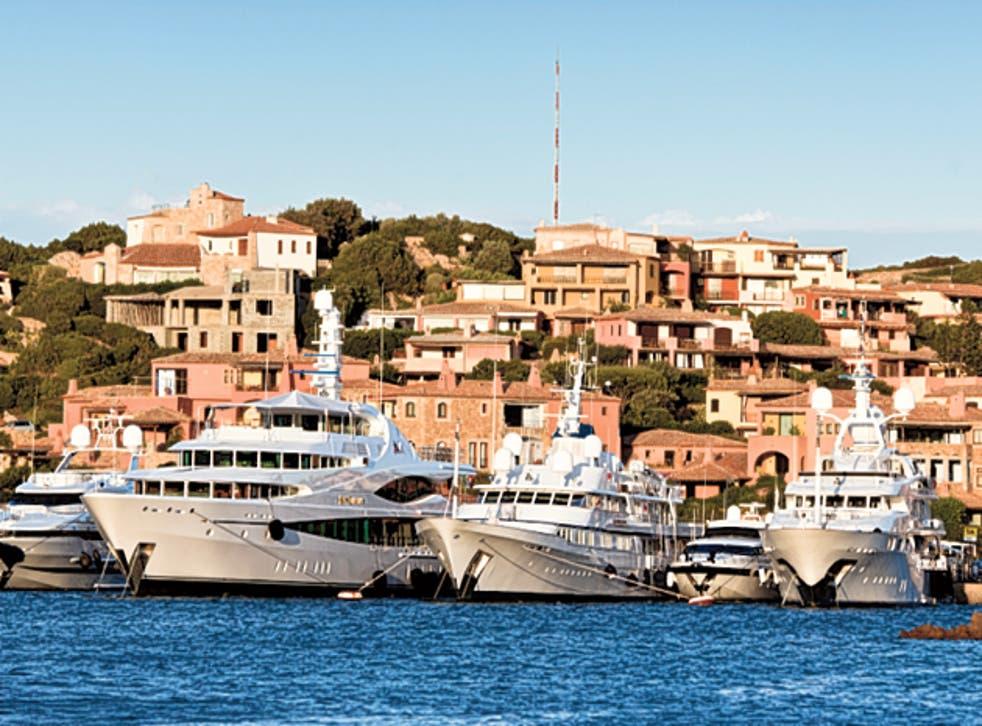 The scene of the crime, Porto Cervo on Sardinia's Costa Smeralda
