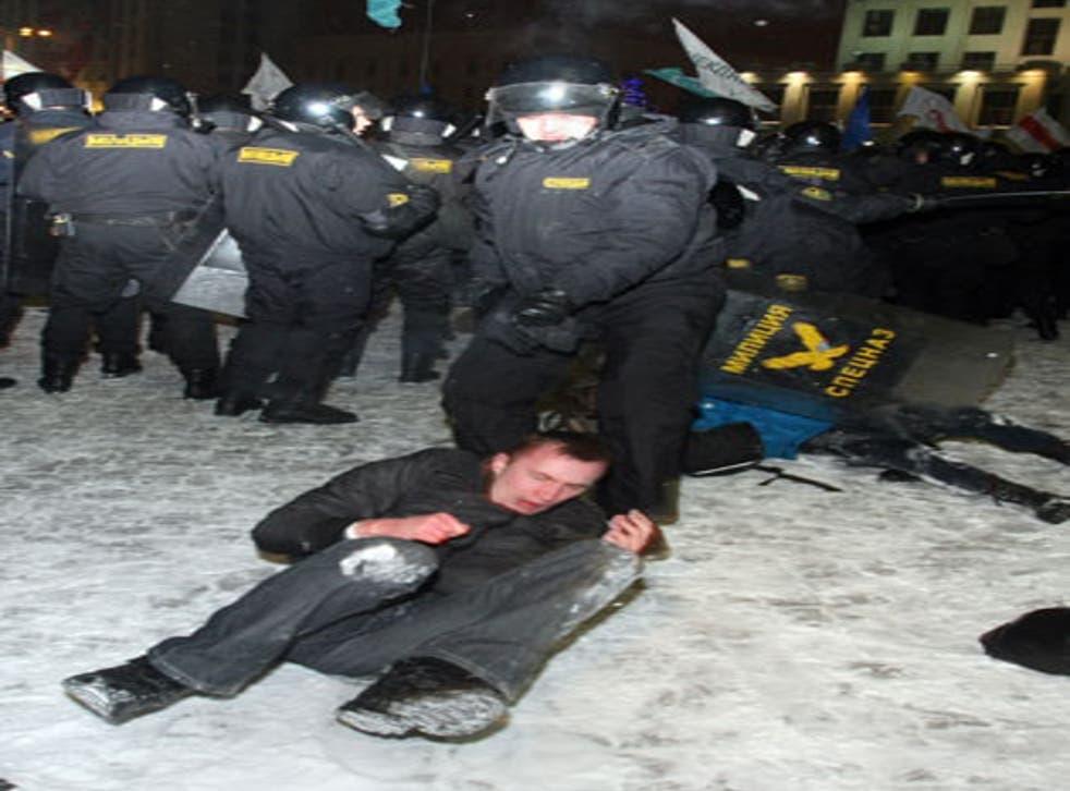 An opposition rally in Minsk in December last year