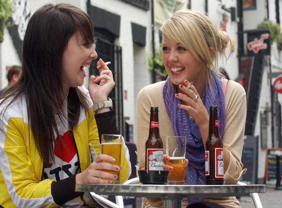 Guilty pleasure: some people smoke only when drinking