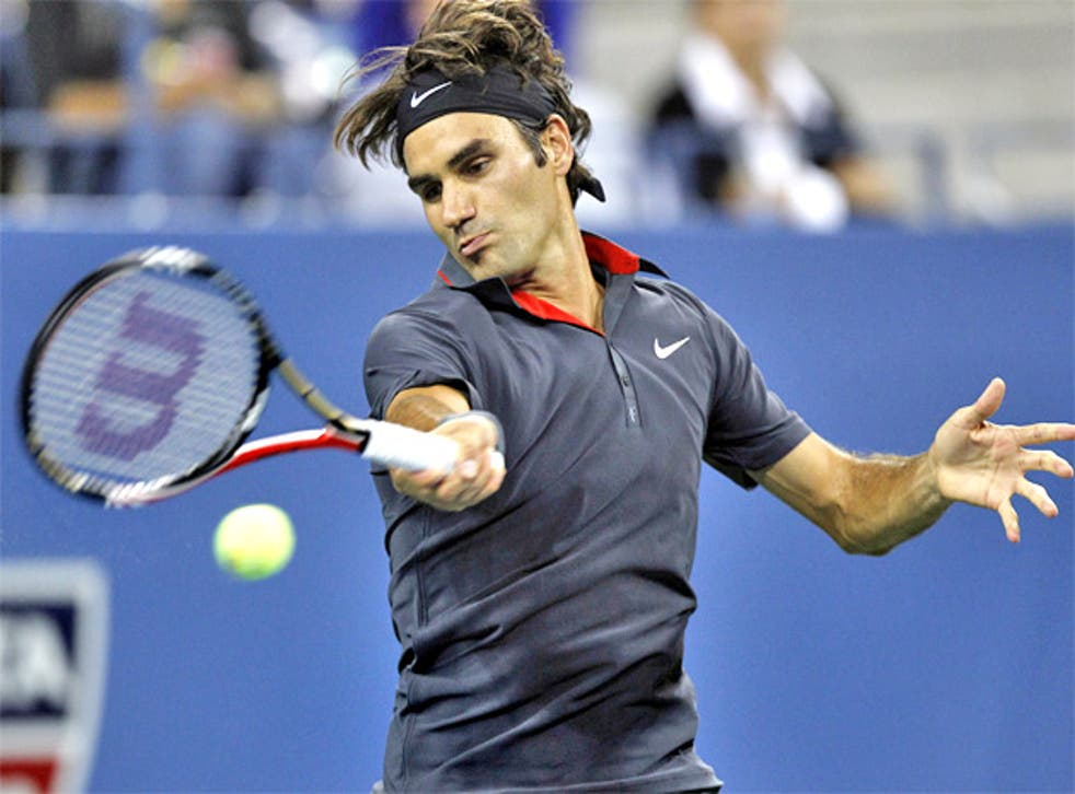 Roger Federer feels the courts have been slowed too much
