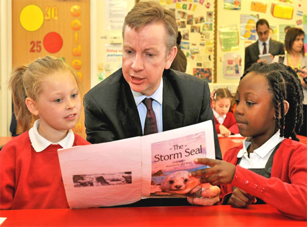 Michael Gove visits a primary school