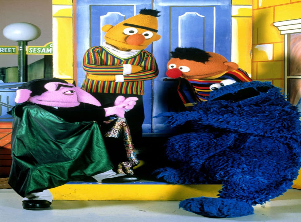 Mashed up with Tom Waits: Cookie Monster (far right) with 'Sesame Street' colleagues