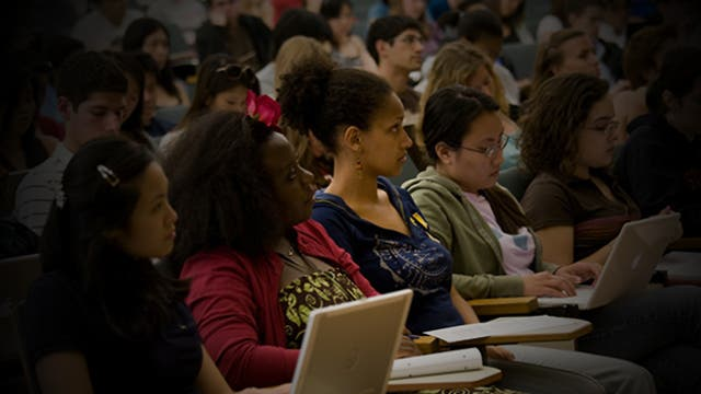 Stanford students in a lecture