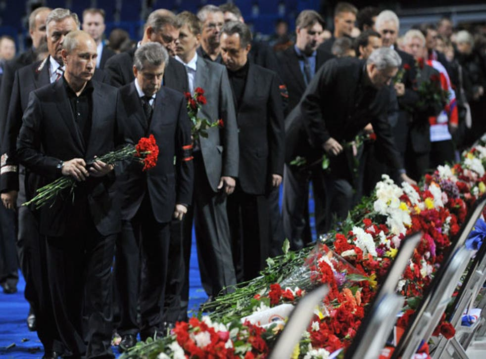 Russia's Prime Minister Vladimir Putin, pictured at a ceremony for the victims of last week's plane crash, will meet David Cameron today