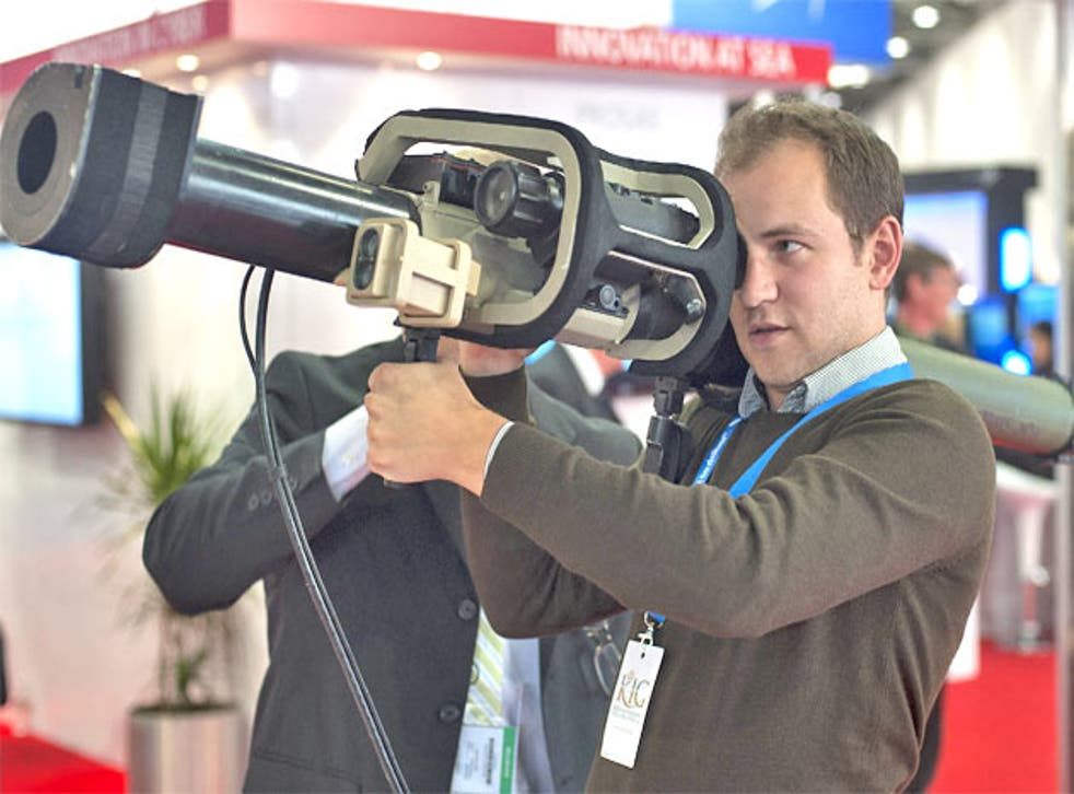 Writer Tom Peck handles some of the weaponry