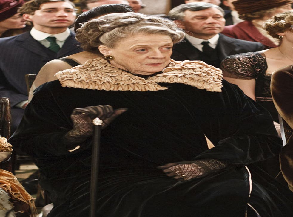 Dame Maggie Smith stars in Downtown Abbey as Countess Violet