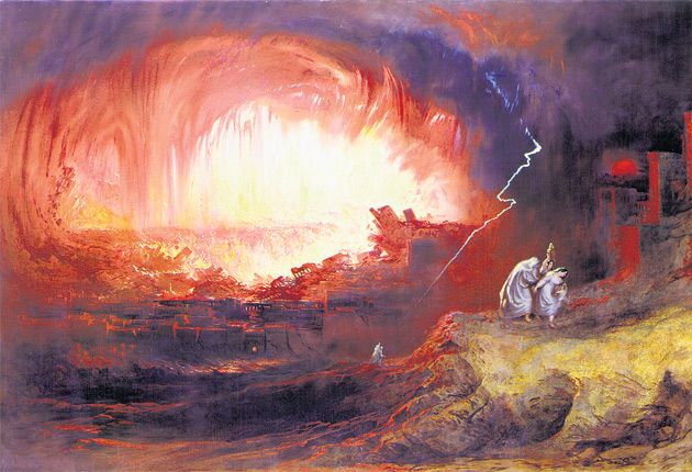 The Canaanite city of Sodom is destroyed by God